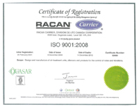 certificate of registration, Air-conditioning, refrigeration, heating, cooling, HVAC, optimair, air cleaner, acoustair, transport, commercial refrigeration