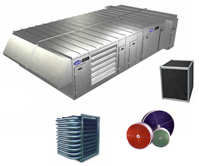 Custom & Semi-Custom Central Station Energy Recovery AHU, Air-conditioning, refrigeration, heating, cooling, HVAC, optimair, air cleaner, acoustair, transport, commercial refrigeration