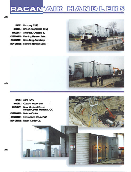 Fleming Hanson Sales - february 1995, Air-conditioning, refrigeration, heating, cooling, HVAC, optimair, air cleaner, acoustair, transport, commercial refrigeration