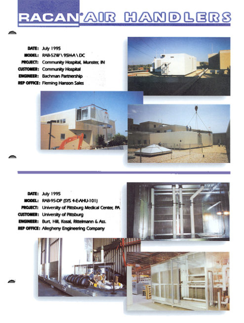 Community Hospital - july 1995, Air-conditioning, refrigeration, heating, cooling, HVAC, optimair, air cleaner, acoustair, transport, commercial refrigeration
